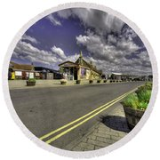 Minehead Station  Round Beach Towel