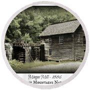 Mingus Mill - Color Poster Round Beach Towel