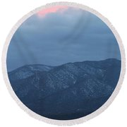 Mingus Mountain Sunset Dec 08 2013 C Round Beach Towel