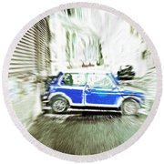 Mini Car Round Beach Towel by Tom Gowanlock