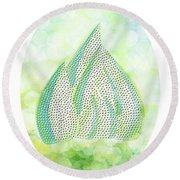 Mini Forest Illustration Round Beach Towel