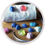 Mini Soaps Collection Round Beach Towel