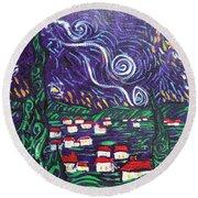 Mini Starry Night Round Beach Towel
