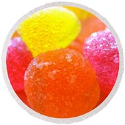 Mini Sugar Fruits Round Beach Towel