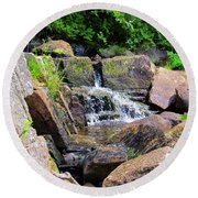 Mini Water Fall Round Beach Towel
