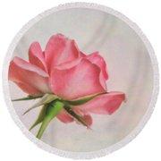 Miniature Rose II Round Beach Towel