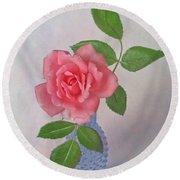 Miniature Rose IIi Round Beach Towel
