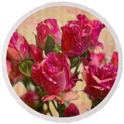 Miniature Roses Round Beach Towel
