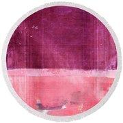 Minima - S02b Pink Round Beach Towel