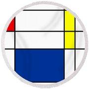 Minimalist Mondrian Round Beach Towel