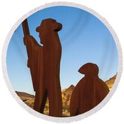 Mining For Gold Round Beach Towel