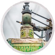 Minneapolis Steam Engine Round Beach Towel