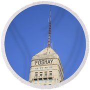 Minneapolis Tower Round Beach Towel
