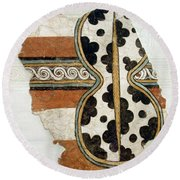 Minoan Livestock Painting Round Beach Towel