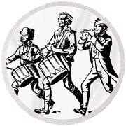 Minutemen: Spirit Of 1776 Round Beach Towel