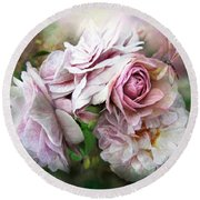 Miracle Of A Rose - Mauve Round Beach Towel