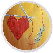Miracle Of Dna Round Beach Towel