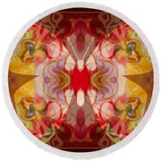 Miracles Can Happen Abstract Butterfly Artwork Round Beach Towel