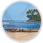 Mirissa Beach Sri Lanka Round Beach Towel