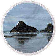Mirror Image Round Beach Towel