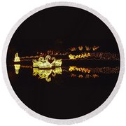 Mirror Lake Reflections Round Beach Towel
