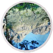 Mirror Lake Three New Zealand Round Beach Towel