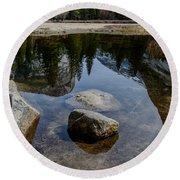 Mirror Lake Threesome 2 Yosemite Round Beach Towel