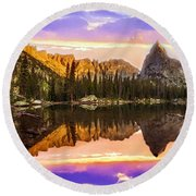 Mirror Lake Yosemite National Park Round Beach Towel