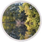 Mirror Mirror Round Beach Towel