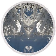 Mirror Of Snow  Round Beach Towel