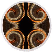 Mirrored Abstract Round Beach Towel