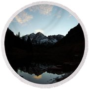 Mirrored Bells Round Beach Towel