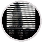 Mirrored Image Round Beach Towel
