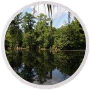 Mirrow Lake - Magnolia Gardens Round Beach Towel