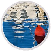 Miss Pattie Reflections Round Beach Towel