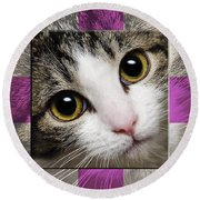 Miss Tilly The Gift 1 Round Beach Towel
