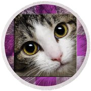 Miss Tilly The Gift 2 Round Beach Towel