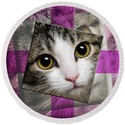 Miss Tilly The Gift 3 Round Beach Towel