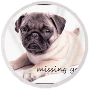Missing You... Round Beach Towel by Edward Fielding