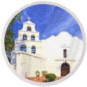 Mission Basilica San Diego De Alcala Usa Round Beach Towel