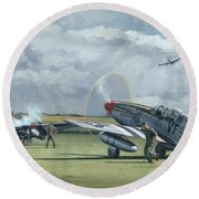 Mission From Debden Round Beach Towel