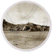 Mission San Antonio De Padua California Circa 1903 Round Beach Towel