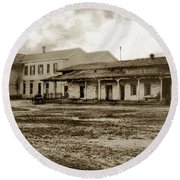 Mission San Francisco De Asis Mission Dolores And Mission House Calif. 1880 Round Beach Towel