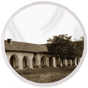 Mission San Juan Bautista San Benito County Circa 1905 Round Beach Towel