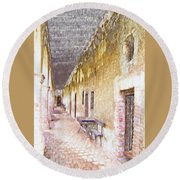 Mission San Juan Capistrano No 5 Round Beach Towel