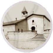Mission San Luis Obispo Circa 1890 Round Beach Towel