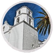 Mission San Luis Rey - California Round Beach Towel