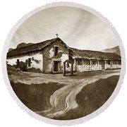 Mission San Rafael California  Circa 1880 Round Beach Towel