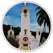 Mission San Rafael Round Beach Towel