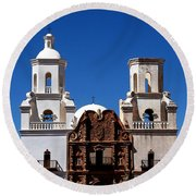 Mission San Xavier Del Bac Round Beach Towel